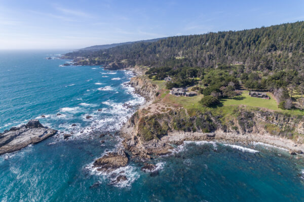 Aerial photography of Timber Cove on the Sonoma Coast