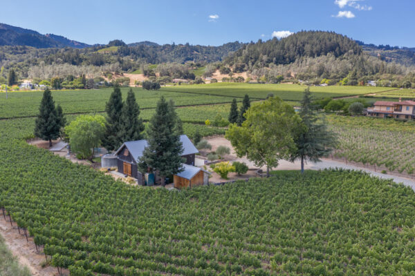 Real estate photography of St. Helena vineyard property